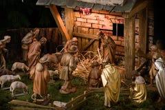Geburt Christi-Szene lizenzfreie stockbilder