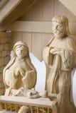 Geburt Christi Szene, Jesus Christus, Mary und Josef Lizenzfreies Stockbild