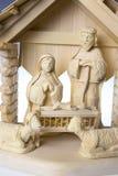 Geburt Christi Szene, Jesus Christus, Mary und Josef Stockbilder