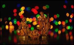 Geburt Christi Szene, Jesus Christus, Mary und Josef Lizenzfreie Stockbilder