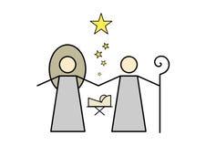 Geburt Christi-Szenen-Ikone Lizenzfreie Stockfotografie