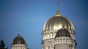 Geburt Christi von Christus-Kathedrale, Riga, Lettland wurde aufgebaut, um zu entwerfen von Nikolai Chagin und von Robert Pflug i stock video