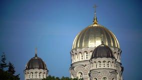 Geburt Christi von Christus-Kathedrale, Riga, Lettland wurde aufgebaut, um zu entwerfen von Nikolai Chagin und von Robert Pflug i stock video footage