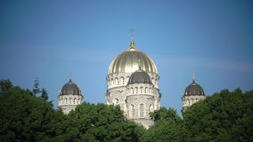 Geburt Christi von Christus-Kathedrale, Riga, Lettland wurde aufgebaut, um zu entwerfen von Nikolai Chagin und von Robert Pflug i stock footage