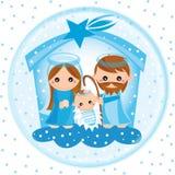Geburt Christiglaskugel lizenzfreie abbildung
