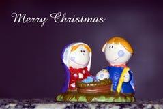 Geburt Christikarte Lizenzfreie Stockfotos