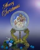 Geburt Christikugel Weihnachtskarte Stockbild