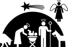 Geburt Christipiktogramm Stockbild