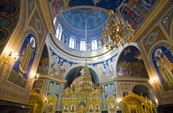 Geburt Christis-Kathedralen-Innenraum - Chisinau Stockfotografie