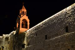 Geburt Christis-Kirche am Weihnachtsabend in Bethlehem, West Bank, Palästina, Israel stockfotos