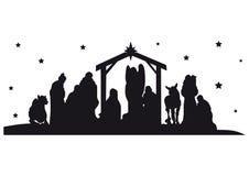 Geburt Christis-Schattenbild Lizenzfreie Stockfotografie
