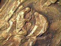Geburt Christis-Szene lizenzfreie stockfotografie