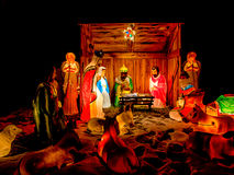 Geburt Christis-Szenen-Nacht Stockfotos