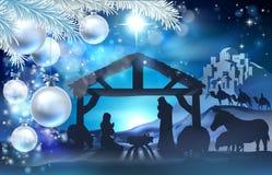 Geburt Christis-Weihnachtszusammenfassungs-Hintergrund Stockbilder