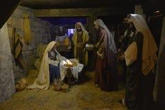 Geburt Christisszene stockfoto