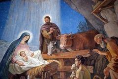 Geburt Christisszene lizenzfreies stockfoto