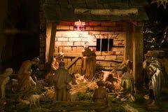 Geburt Christiszene Stockbild