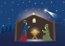 Geburt Christiszene Stockfotografie