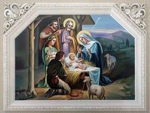 Geburt Christiszene lizenzfreies stockbild
