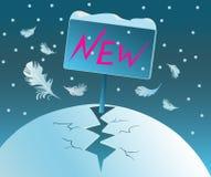 Geburt des neuen Jahres. Beginn. Stockfoto