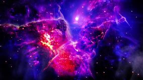 Geburt des Raumnebelflecks vektor abbildung