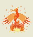 Geburt von einem jungen Phoenix. stockbild
