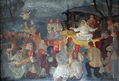 Geburt von Jesus lizenzfreies stockfoto