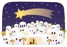 Geburt von Jesus in Bethlehem Stockfotografie
