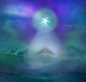 Geburt von Jesus in Bethlehem Stockbild