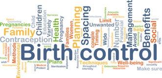 Geburtenkontrolle-Hintergrundkonzept Lizenzfreies Stockfoto