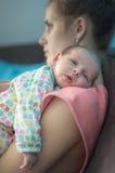 Geburts- Krise des Beitrags lizenzfreie stockbilder