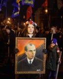 109. Geburtsjahrestag von Stepan Bandera in Kyiv Stockbilder