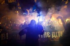 109. Geburtsjahrestag von Stepan Bandera in Kyiv Lizenzfreie Stockfotos