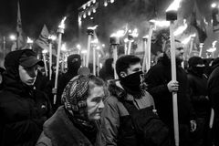 109. Geburtsjahrestag von Stepan Bandera in Kyiv Stockfotos