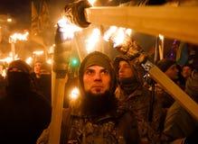 109. Geburtsjahrestag von Stepan Bandera in Kyiv Stockfoto