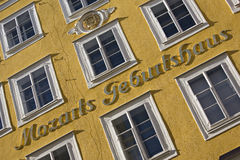 Geburtsort von Mozart Stockbild