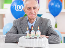 100. Geburtstag Stockfotos