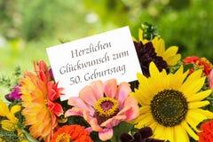 50. Geburtstag Lizenzfreies Stockfoto