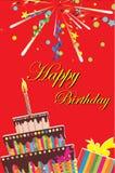Geburtstag card-03 lizenzfreie abbildung