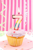 Geburtstag des jungen Mädchens Stockbild