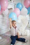 Geburtstag des kleinen Jungen Lizenzfreie Stockbilder