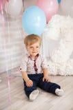Geburtstag des kleinen Jungen Lizenzfreies Stockfoto