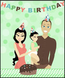 Geburtstag-Familie Lizenzfreies Stockfoto