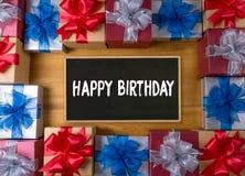 Geburtstag g der alles- Gute zum Geburtstagfeier-Glückwunsch-Partei-HBD Stockbild