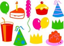 Geburtstag-Ikonen lizenzfreie abbildung