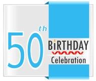 50. Geburtstag, 50 Jahre Feierkarte Stockfoto