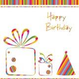 Geburtstag-Karte Stockbild