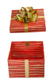 Geburtstag, Kasten, feiern, Feier, Weihnachten, Weihnachtsgeschenk, Geschenk, das giftbox, lokalisiert Lizenzfreie Stockfotos