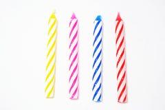 Geburtstag-Kerzen Stockfotos
