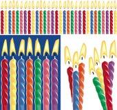 Geburtstag-Kerzen vektor abbildung